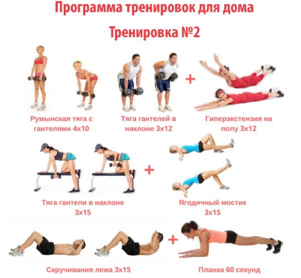 Круговая тренировка на жиросжигание для девушек в тренажерном зале, дома