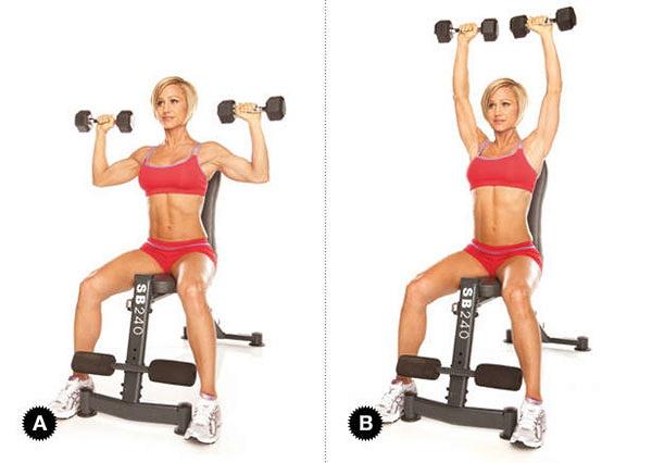 Упражнения на задние дельты в тренажерном зале в кроссовере для девушек