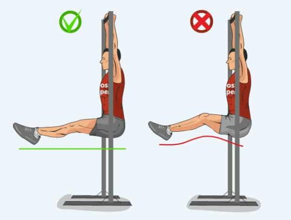 Поднятие ног на турнике. Какие мышцы работают, польза, вред, программа, техника
