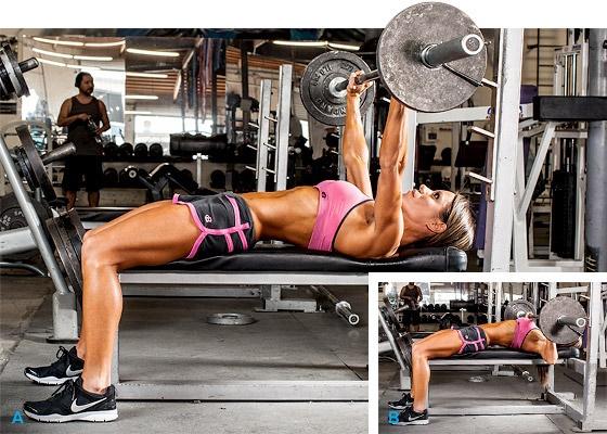 Упражнения со штангой для похудения девушек на трицепс, ноги, спину, все группы мышц в домашних условиях