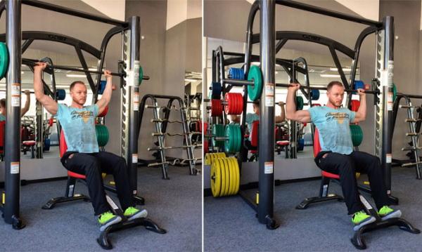 Упражнения на среднюю дельту плеча в тренажерном зале для девушек
